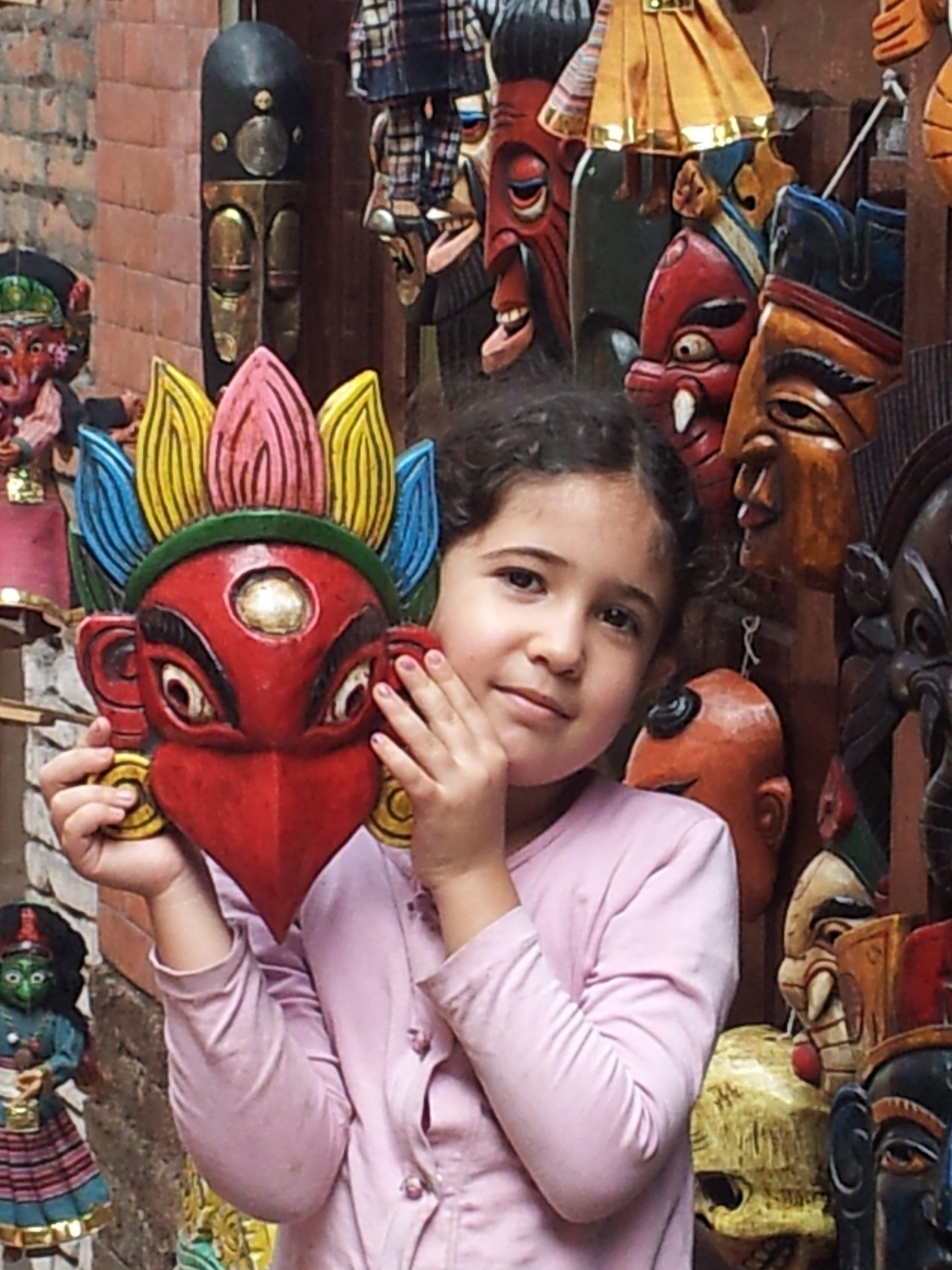 נפאל עם ילדים